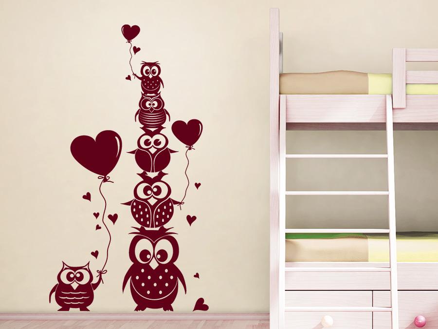 Babyzimmer gestalten wandgestaltung eule - Eulen gestalten ...
