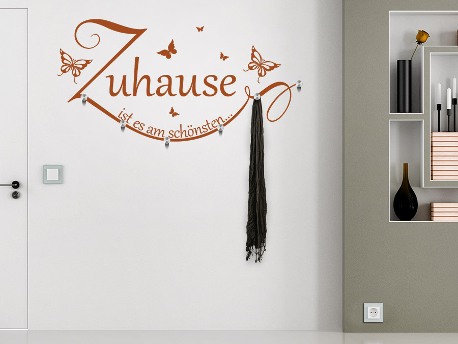 wandtattoo garderobe zuhause ist es am sch nsten. Black Bedroom Furniture Sets. Home Design Ideas