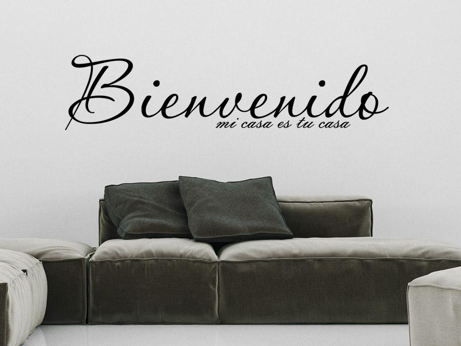 wandtattoo bienvenido von. Black Bedroom Furniture Sets. Home Design Ideas