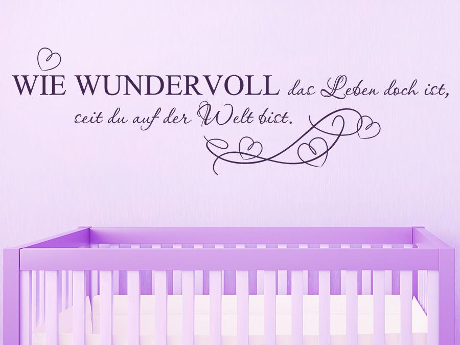 Wandtattoo Seit du auf der Welt bist.. Babyspruch | WANDTATTOO.DE