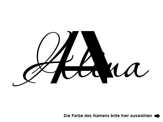 Wandtattoo Wunschname mit Buchstabe | WANDTATTOO.DE