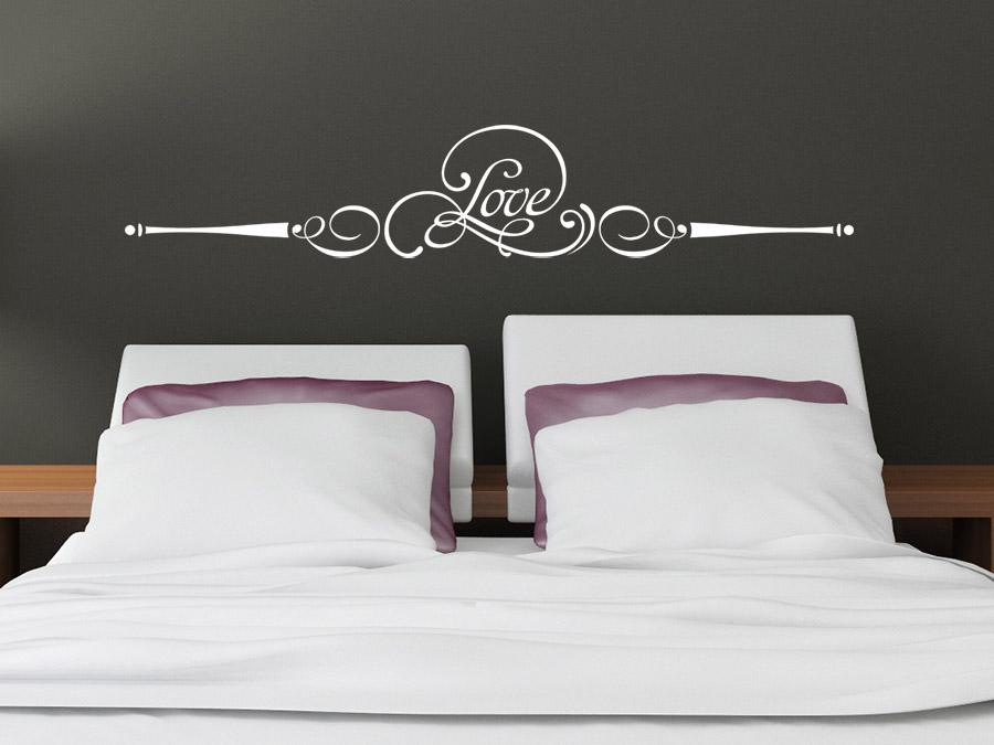 Gut Ornament Wandtattoo Love Im Schlafzimmer In Weiß