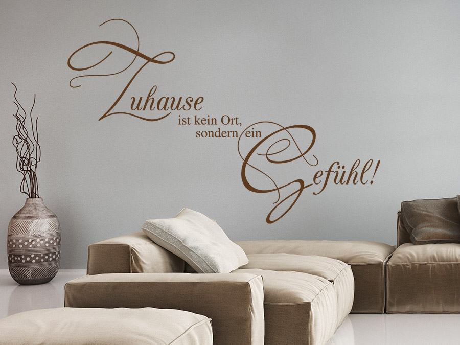 wandtattoo spruch zuhause ist kein ort von. Black Bedroom Furniture Sets. Home Design Ideas