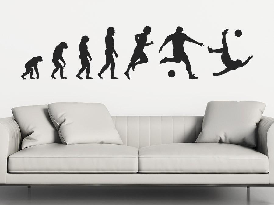 wandtattoo fu ball evolution f r fu ballfans wandtattoo de. Black Bedroom Furniture Sets. Home Design Ideas