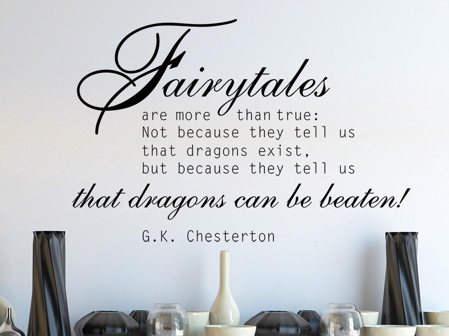 Wandtattoo Fairytales Zitat von Wandtattoo.de