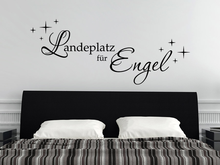 wandtattoo spruch landeplatz f r engel von. Black Bedroom Furniture Sets. Home Design Ideas