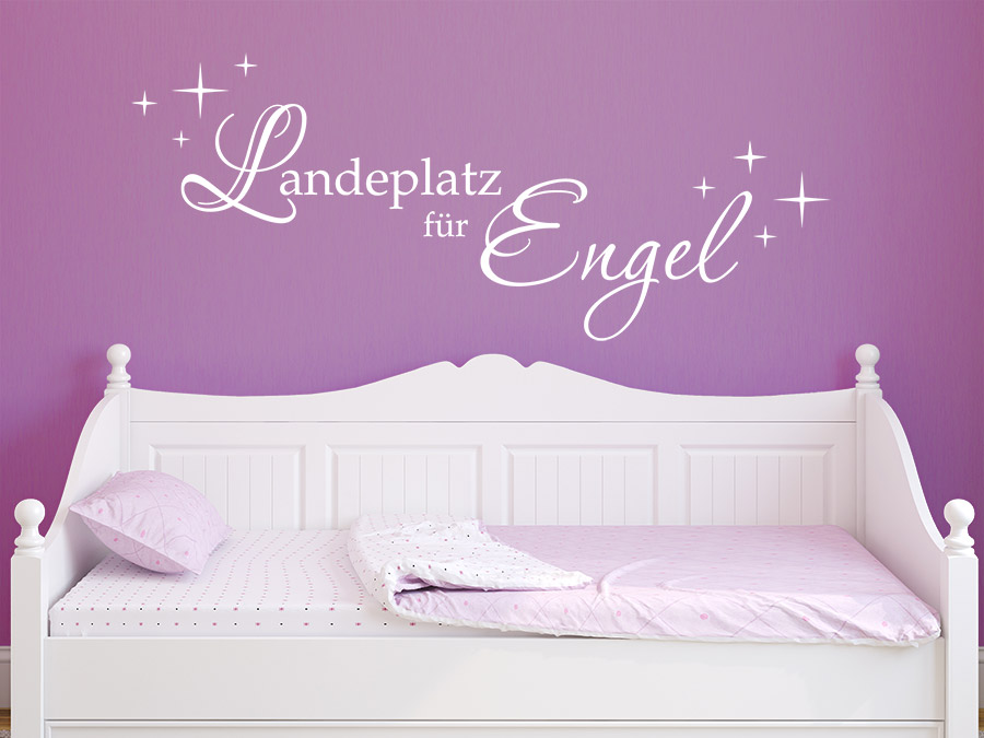 wandtattoo landeplatz f r engel wandtattoo de. Black Bedroom Furniture Sets. Home Design Ideas