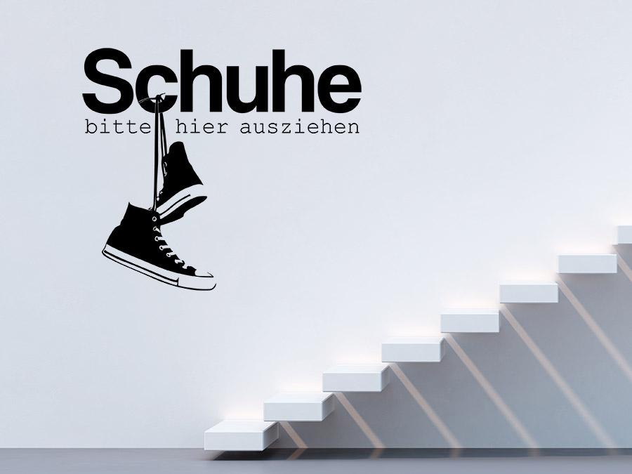 wandtattoo schuhe ausziehen mit sneaker motiv wandtattoo de. Black Bedroom Furniture Sets. Home Design Ideas