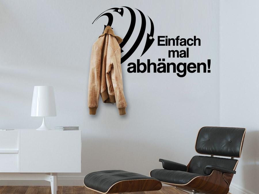 wandtattoo garderobe einfach mal ang ngen von. Black Bedroom Furniture Sets. Home Design Ideas