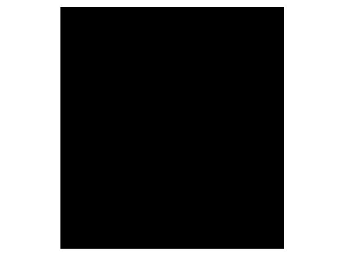 Ansicht Uhr Verspielte Zahlen als Wandtattoo