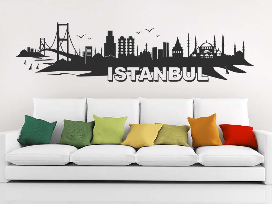 wandtattoo istanbul skyline wandtattoo de. Black Bedroom Furniture Sets. Home Design Ideas