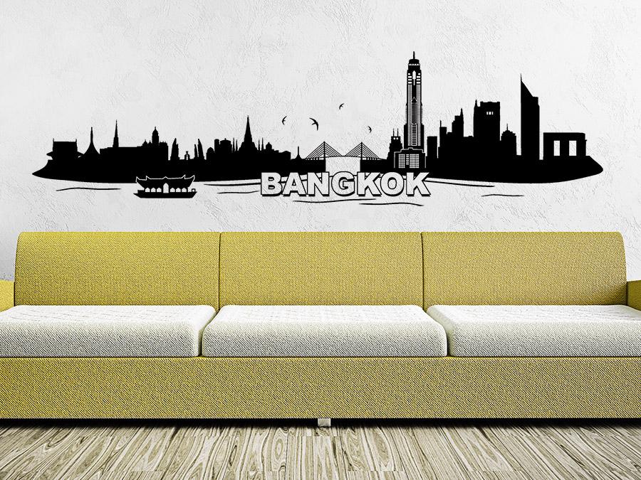 Das wandtattoo bangkok als abwechslungsreiches skyline motiv mit