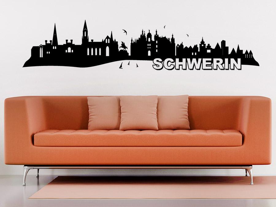 wandtattoo skyline schwerin bei. Black Bedroom Furniture Sets. Home Design Ideas