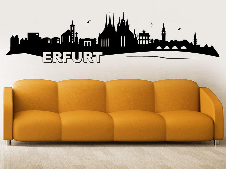 wandtattoo skyline erfurt bei. Black Bedroom Furniture Sets. Home Design Ideas