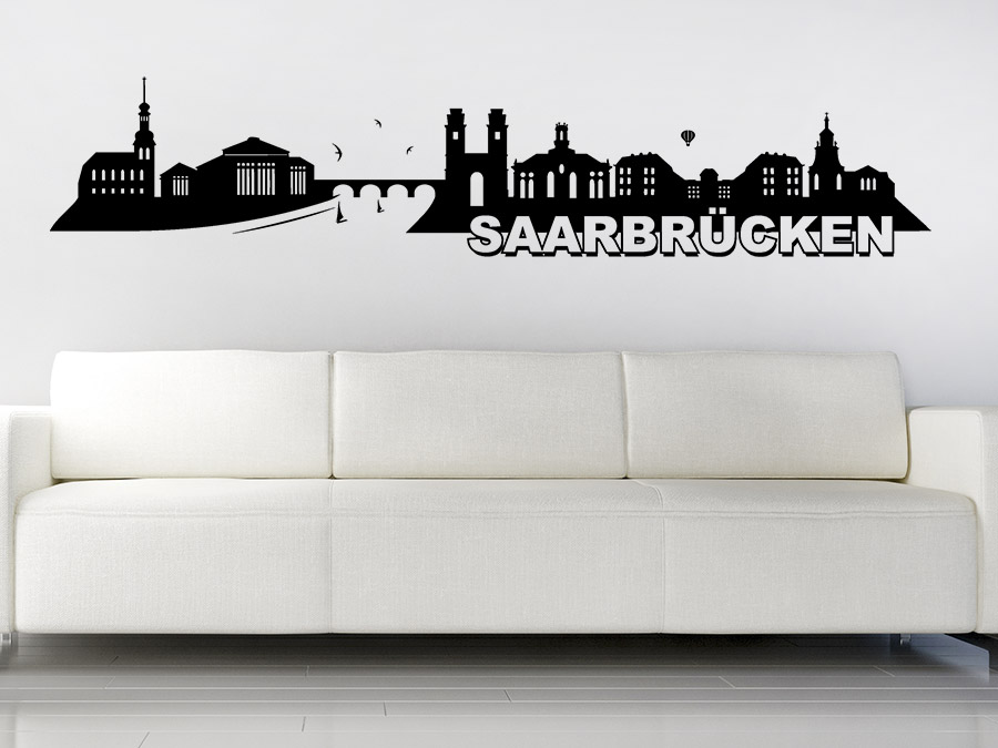 wandtattoo saarbr cken skyline silhouette wandtattoo de. Black Bedroom Furniture Sets. Home Design Ideas