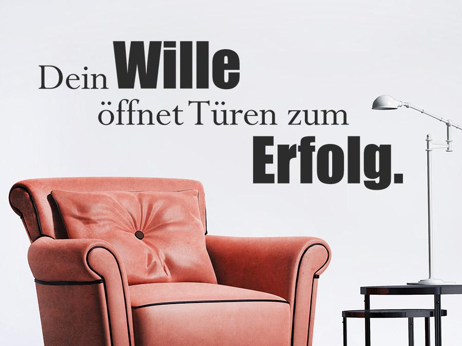 Spruch Wille