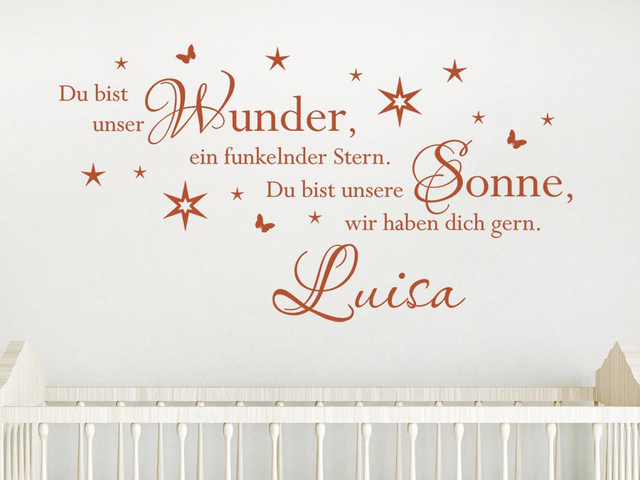 Wandtattoo Du bist unser Wunder... mit Wunschname ...