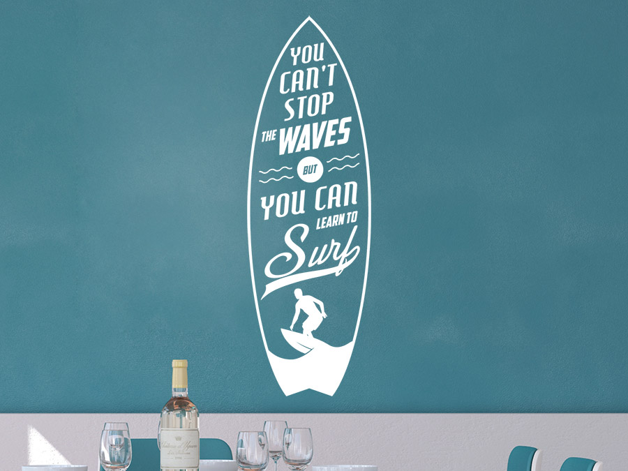 Wandtattoo Stop the waves Spruch von Wandtattoo.de