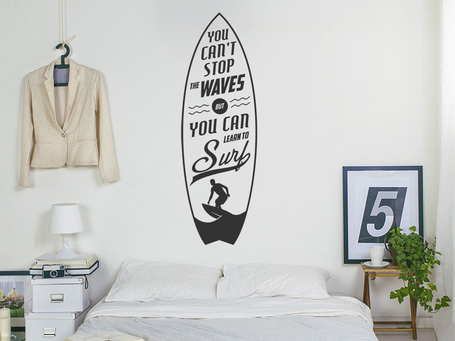 Wandtattoo Learn To Surf Bei Homesticker De