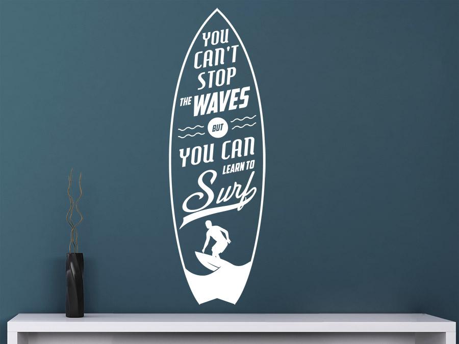 Wandtattoo Learn to surf bei Homesticker.de