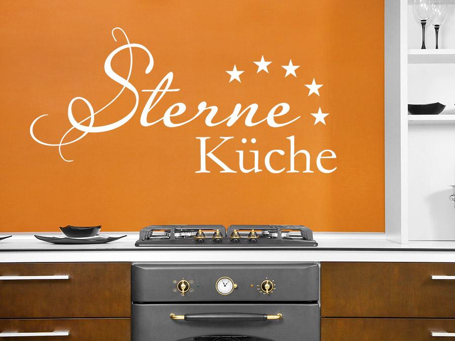 Wandtattoo Sterne Küche Schriftzug | WANDTATTOO.DE