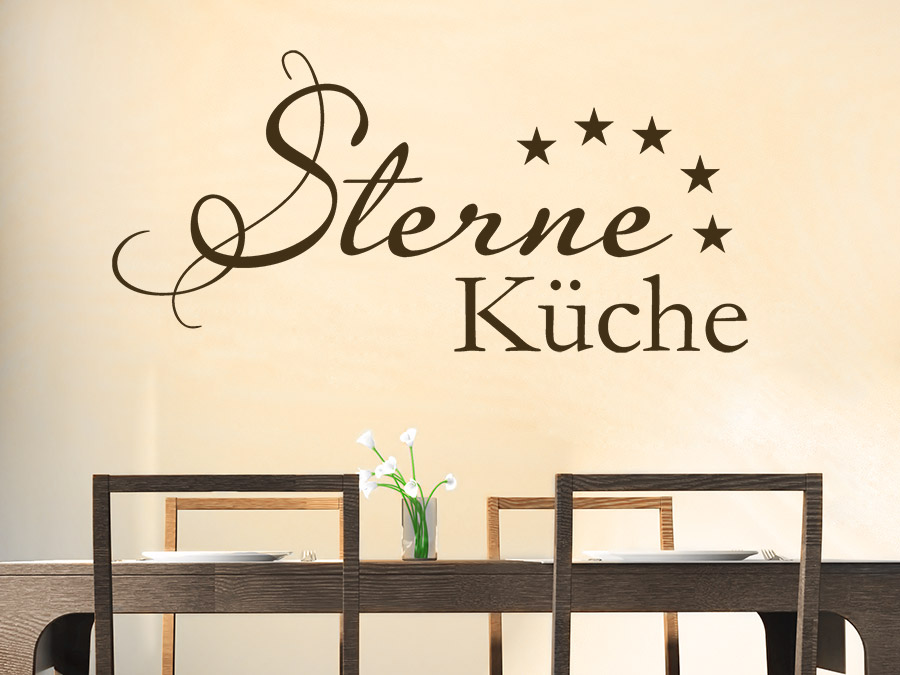 wandtattoo sterne k che schriftzug wandtattoo de. Black Bedroom Furniture Sets. Home Design Ideas