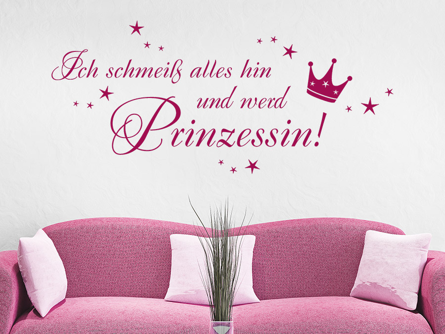 wandtattoo ich werd prinzessin bei. Black Bedroom Furniture Sets. Home Design Ideas