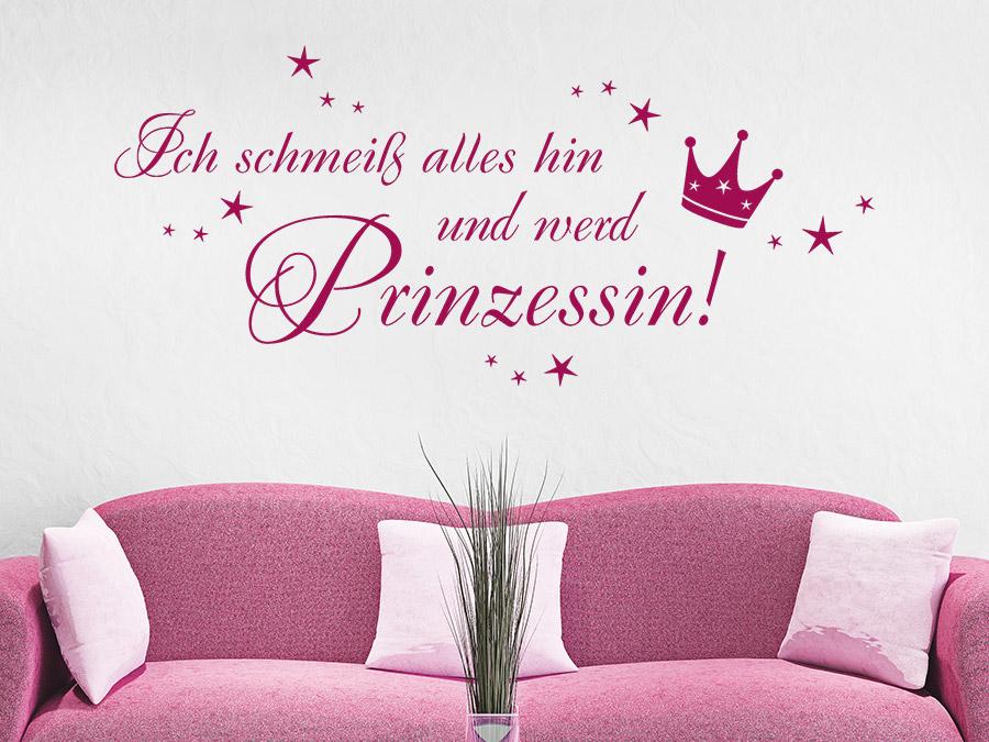 Wandtattoo ich werd prinzessin bei - Prinzessin wandtattoo ...