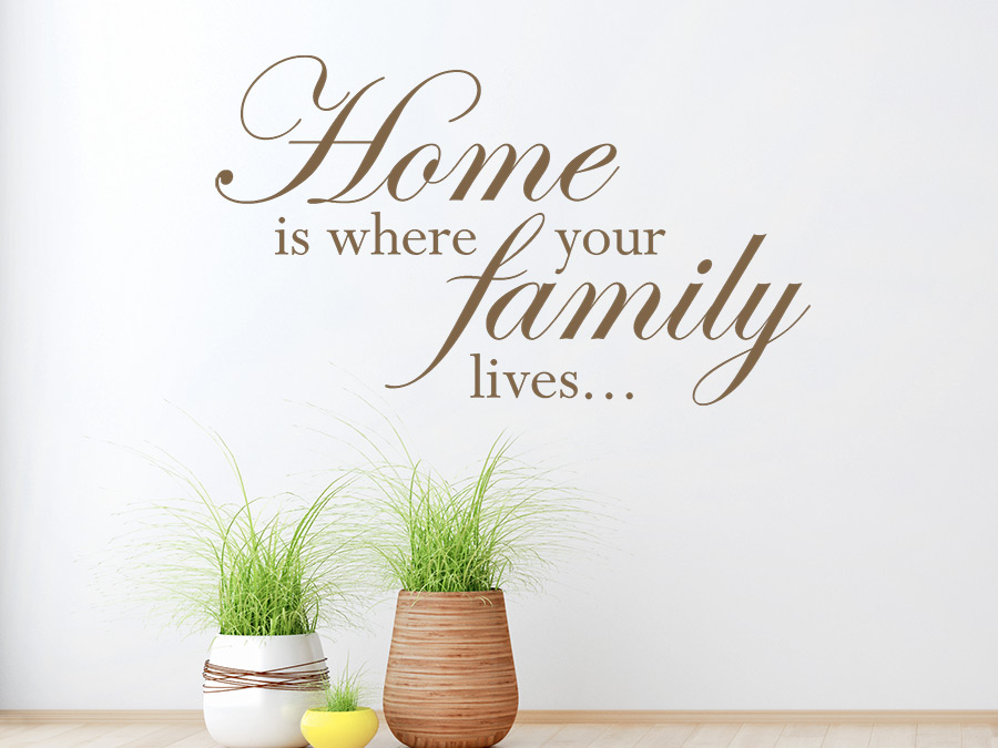 Wandtattoo home is where your family lives wandtattoo de - Wandtattoo family ...
