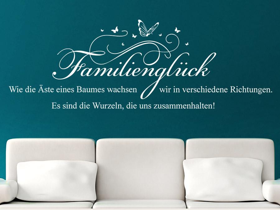 Wandtattoo Familienglück Spruch von Wandtattoo.de