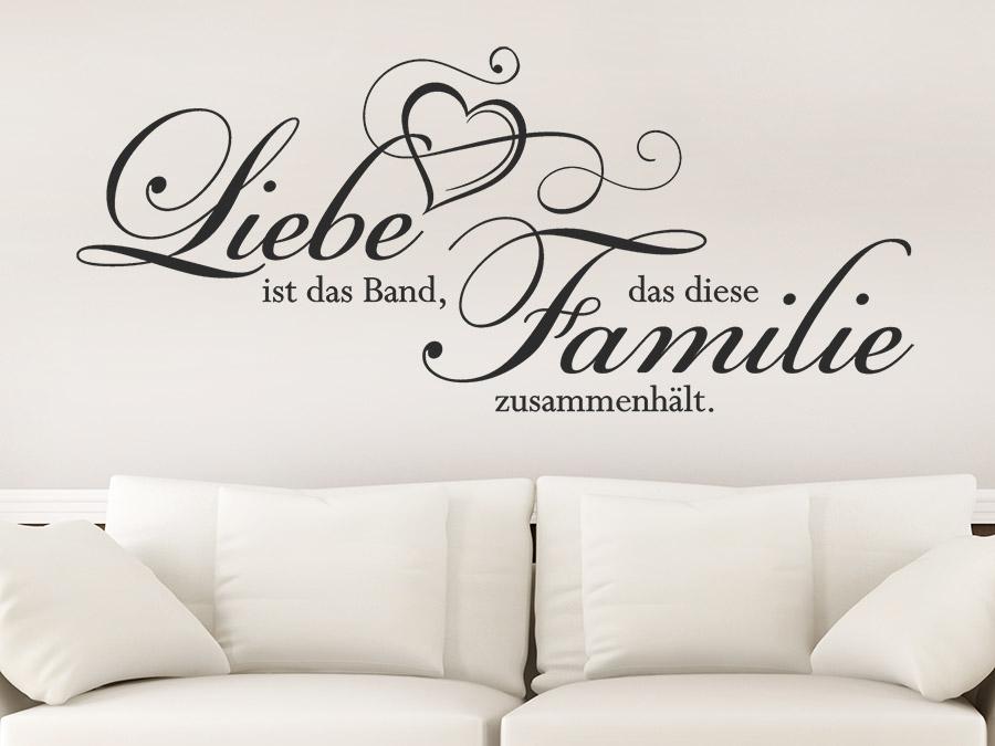 Wandtattoo Liebe Ist Das Band Dass Diese Familie Wandtattoo De