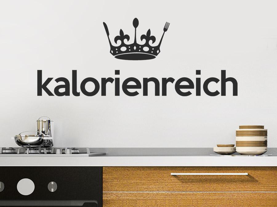 wandtattoo kalorienreich mit krone bei. Black Bedroom Furniture Sets. Home Design Ideas