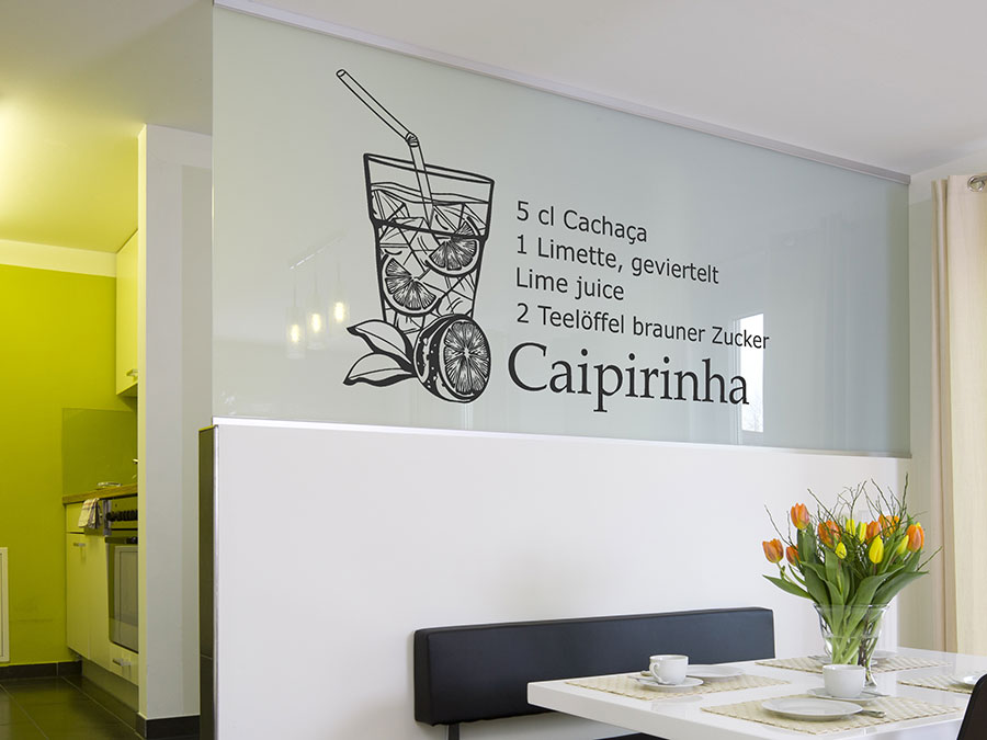 Caipirinha cocktail wallpaper  Wandtattoo Caipirinha Cocktailrezepte   WANDTATTOO.DE