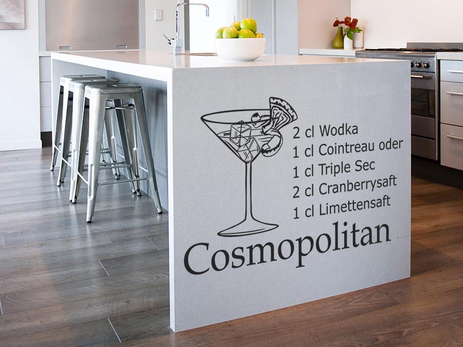 Wandtattoo Cosmopolitan Cocktailrezepte | WANDTATTOO.DE