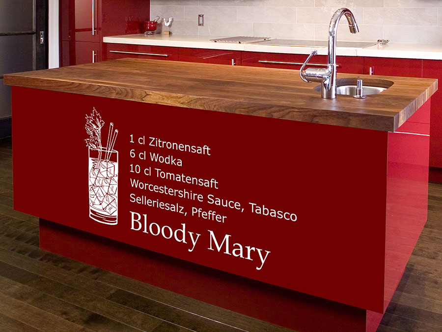 wandtattoo bloody mary von. Black Bedroom Furniture Sets. Home Design Ideas