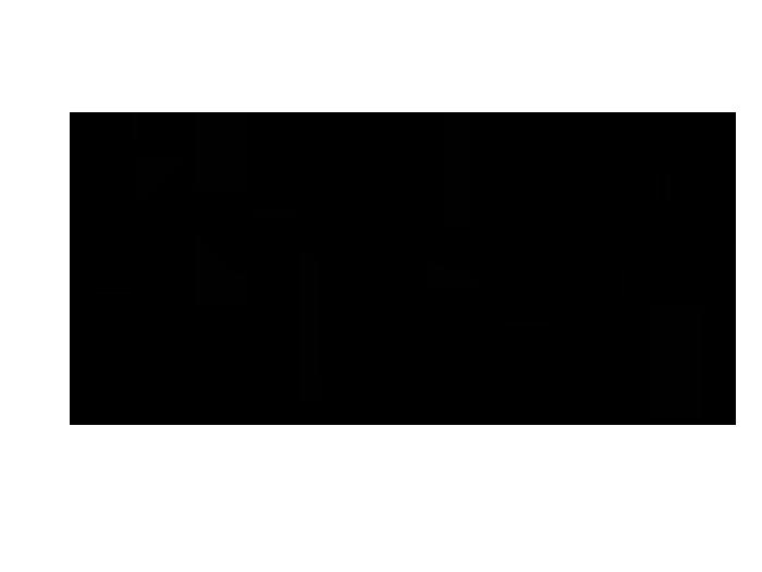 Ansicht Dekorativer Zweig in zwei Farben als Wandtattoo