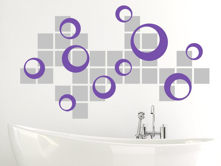 Wandgestaltung Kreise Wandgestaltung Mit Quadraten Wandgestaltung Mit Farbe  Wand Streichen Ideen Farbpalette Pictures