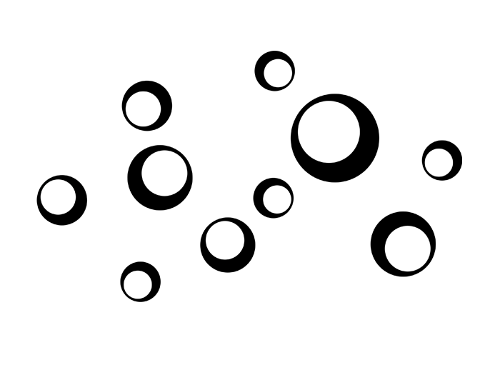 Ansicht Retro Kreise mit Quadraten als Wandtattoo