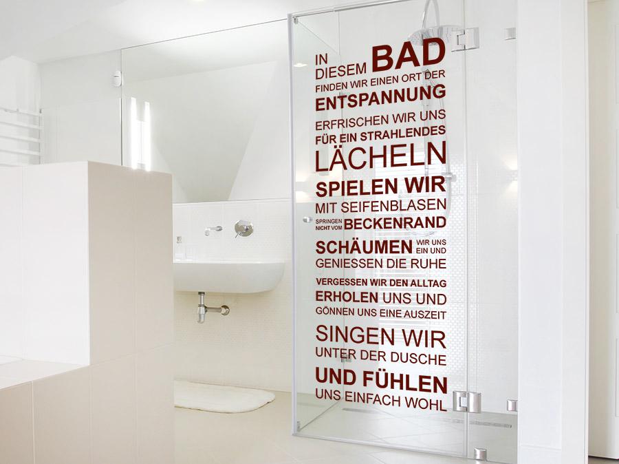 wandtattoo in diesem bad spruchbanner | wandtattoo.de, Hause ideen