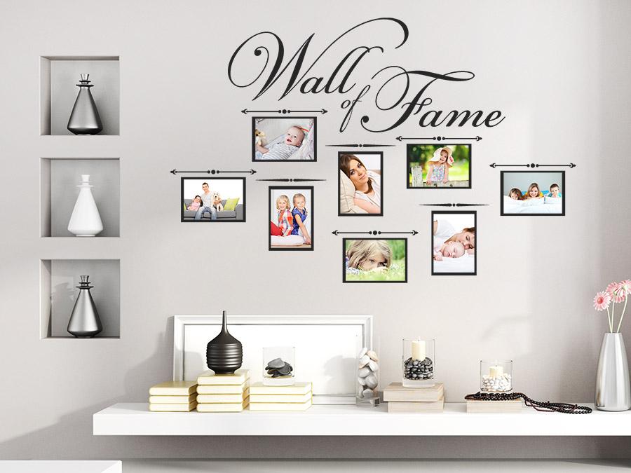 wandtattoo fotorahmen wall of fame bei. Black Bedroom Furniture Sets. Home Design Ideas