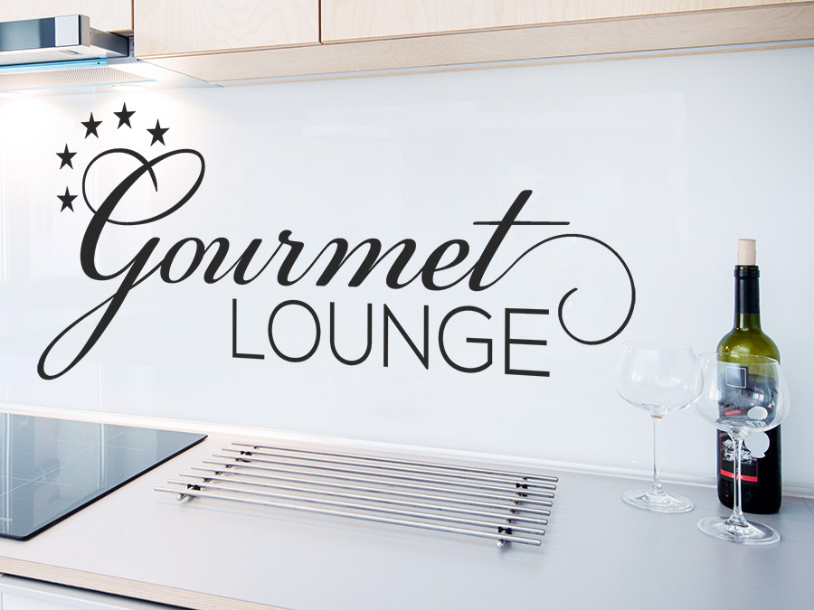 wandtattoo gourmet lounge mit sternen wandtattoo de. Black Bedroom Furniture Sets. Home Design Ideas