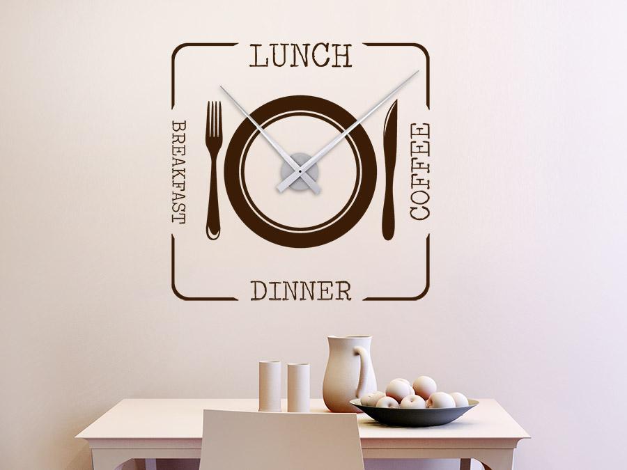 Wandtattoo Uhr Lunch