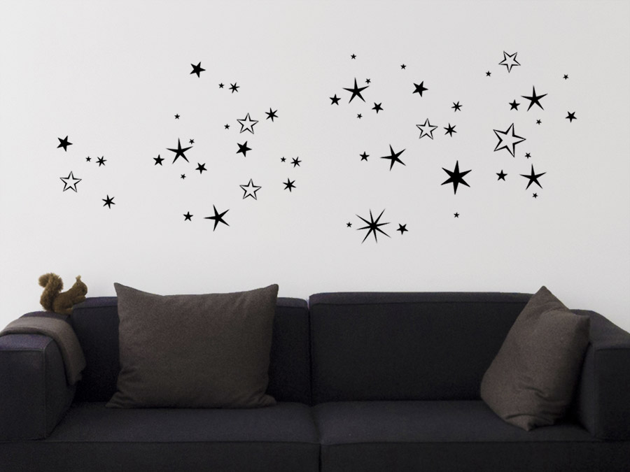wandtattoo n chtlicher sternenhimmel bei. Black Bedroom Furniture Sets. Home Design Ideas