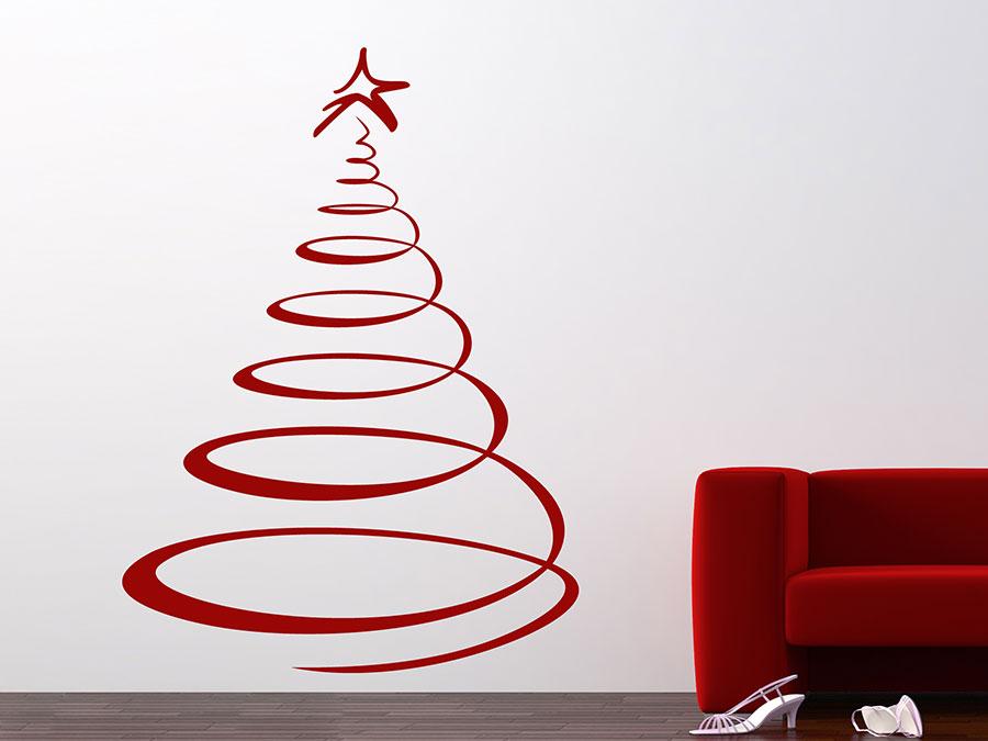 Wandtattoo designer weihnachtsbaum von for Wandtattoo weihnachten