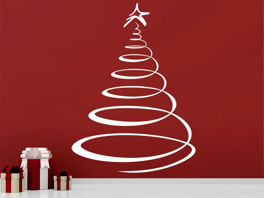 Wandtattoo designer weihnachtsbaum wandtattoo de - Weihnachtsbaum wand ...