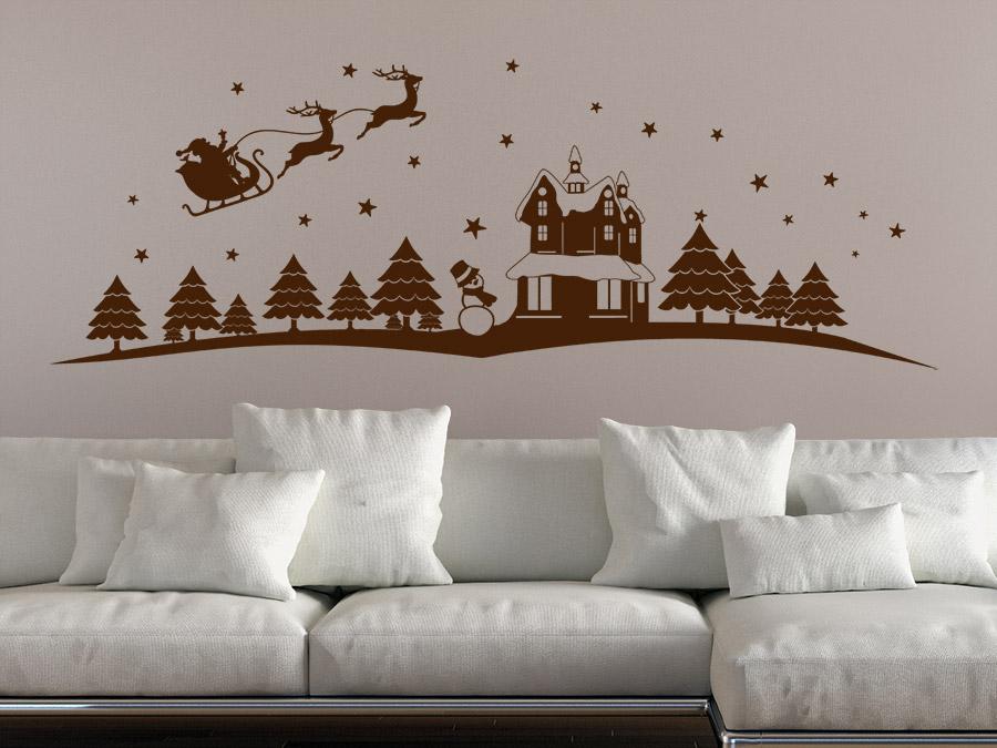 wandtattoo weihnachtsmotiv landschaft wandtattoo de. Black Bedroom Furniture Sets. Home Design Ideas
