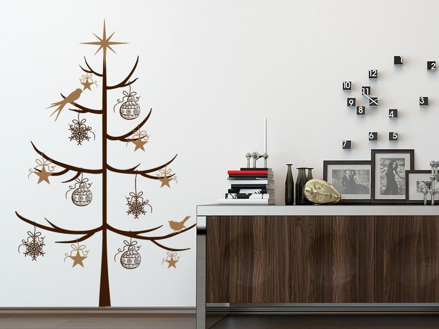 Wandtattoo schlichter weihnachtsbaum von for Wandtattoo babyzimmer spruche