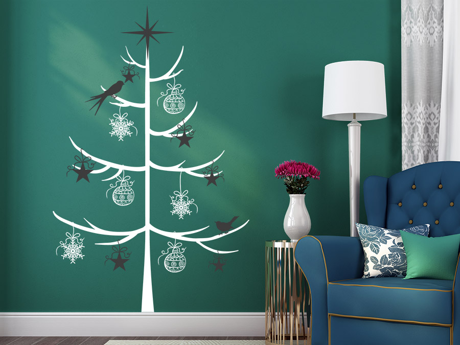 wandtattoo schlichter weihnachtsbaum von. Black Bedroom Furniture Sets. Home Design Ideas