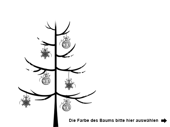 Wandtattoo Schlichter Weihnachtsbaum mit Schmuck | WANDTATTOO.DE