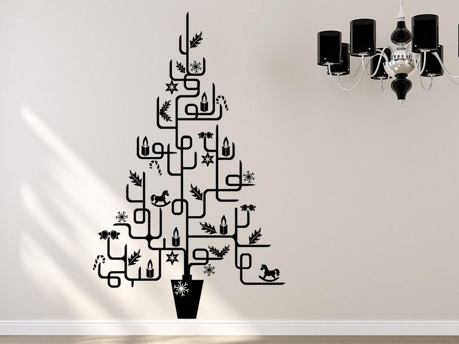 Wandtattoo weihnachtsbaum f r puristen wandtattoo de - Weihnachtsbaum wand ...